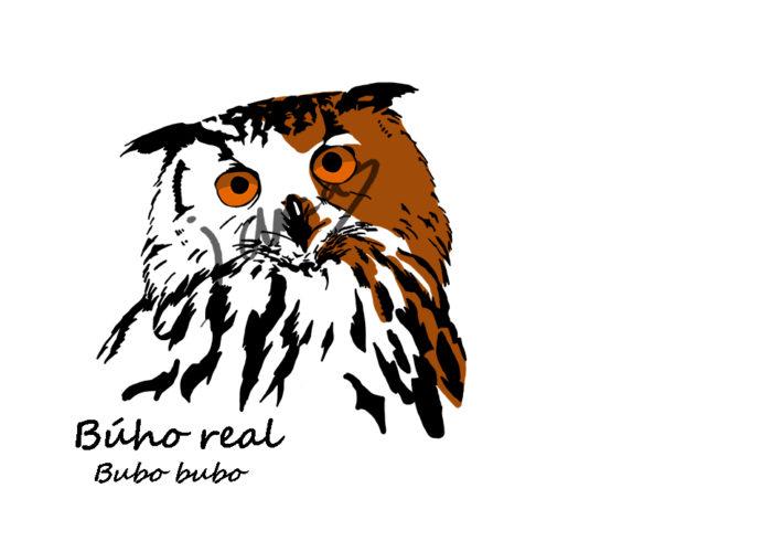 Diseño de Búho real, Bubo bubo.